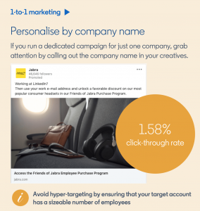 linkedin personalise linkedin account based marketing